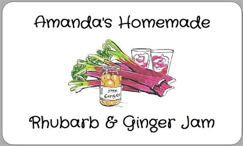 printable jam labels uk rhubarb and ginger jam stickers pot jar labels homemade