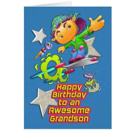 Grandson Birthday Wishes Greeting Cards Happy Birthday Awesome Grandson Skateboarder Boy Greeting