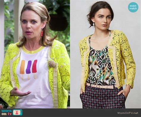 WornOnTV: Kimmy?s popsicle tee and yellow lace jacket on