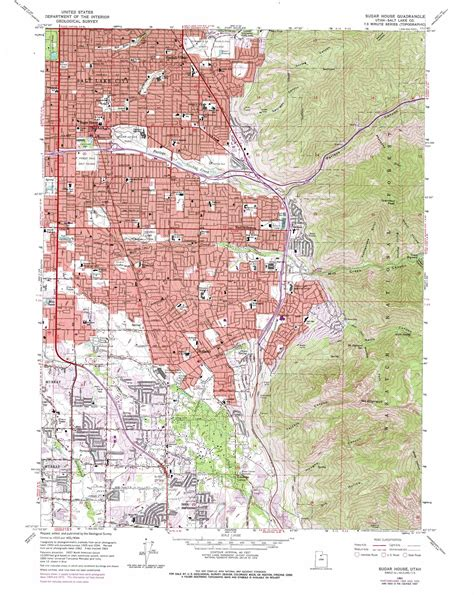 topographical map of utah sugar house topographic map ut usgs topo 40111f7