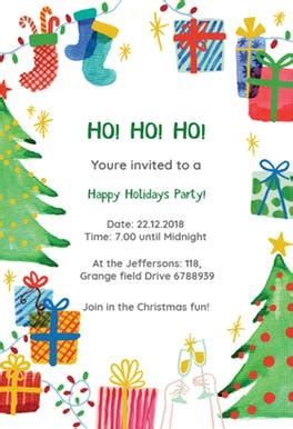 best holiday ever free christmas invitation template