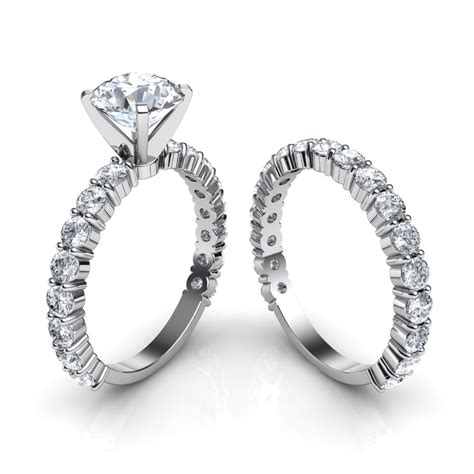 shared prong ring wedding promise