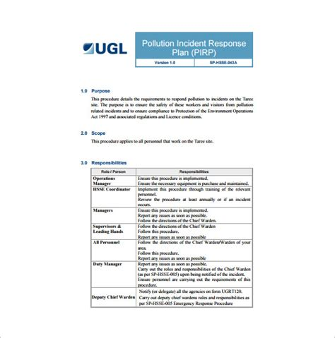 11 Incident Response Plan Templates Free Sle Exle Format Download Free Premium Security Incident Response Template