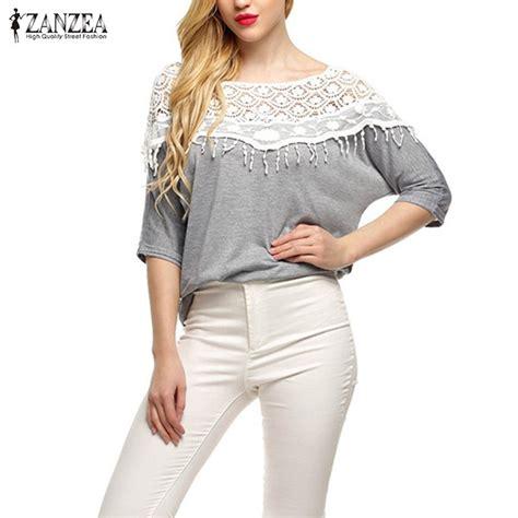 To Fashion Blouse Grey Top Blouse Atasan Cape Abu Balot Diskon T51 41 plus size s 5xl 2016 new cotton shirt for crochet cape lace collar batwing sleeve blouse