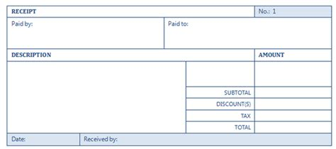 Basic Receipt Template by Basic Receipt Template Oninstall