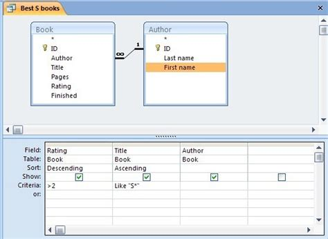 query layout view a quick tutorial on queries in microsoft access 2007