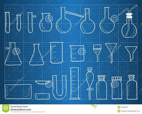 blueprint online free blueprint of chemical laboratory equipment stock vector