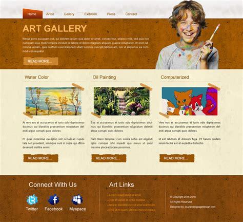 gallery html template best gallery website template psd 08 website