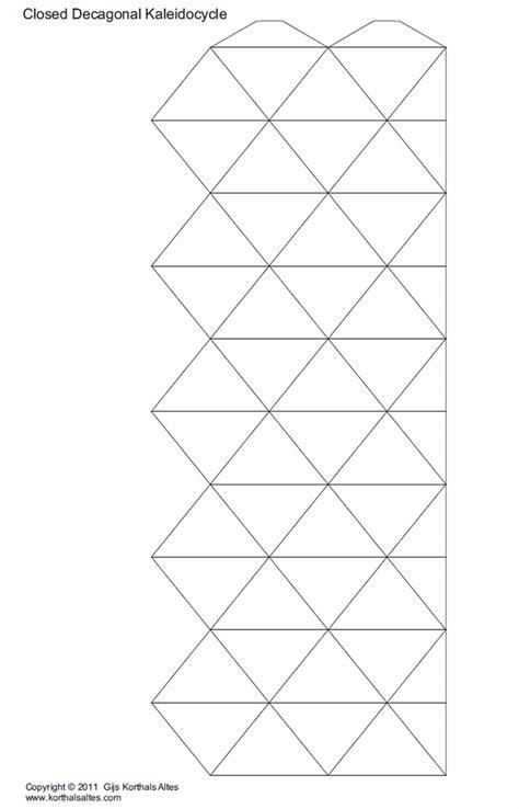 printable kaleidocycle template paper decagonal kaleidocycles