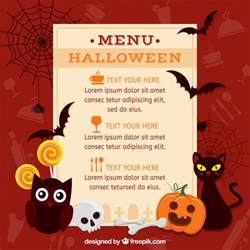 halloween menu with classic elements vector free download