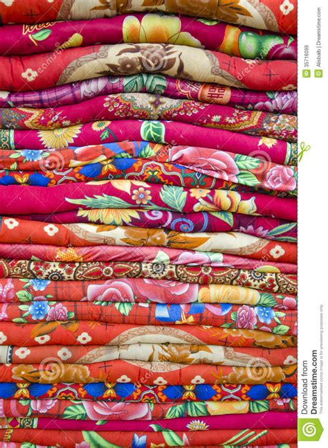 colorful bed sheets colorful bed sheets bedding objects in asia market royalty free stock images image
