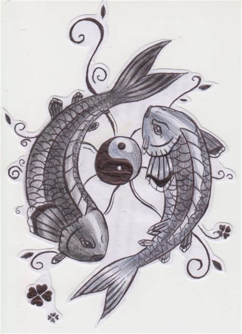 yin yang koi fish by aylagigacz on deviantart