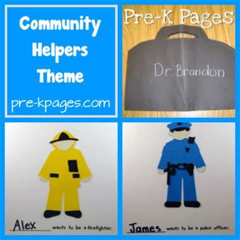 pre k kindergarten themes community helpers pre k
