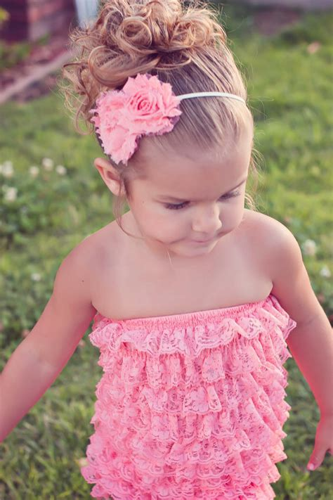Promo Romper Lace Posh Petti Ruffle Pink Leopard sale baby lace sleeveless rompers infant toddler posh petti ruffles strapless romper