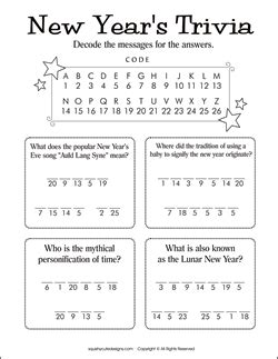 new year puzzles worksheets new years trivia for new years activities for