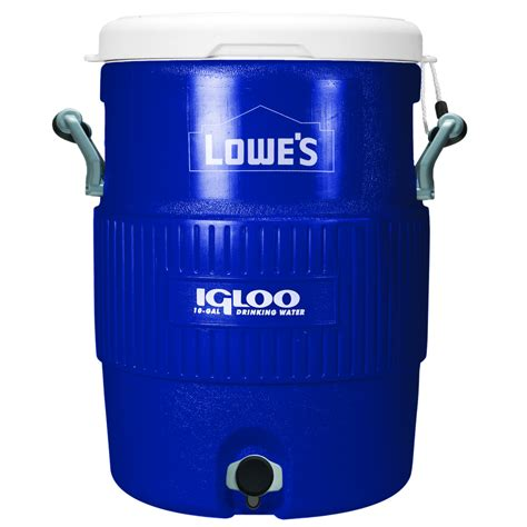 10 gallon igloo cooler mash tun shop igloo 10 gallon plastic beverage cooler at lowes
