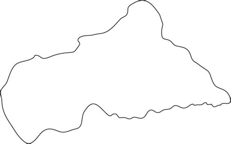 Country Outline by Central Republic Outline Map