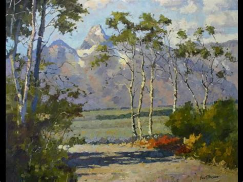 bob ross painting demo brent quot tetons beyond the aspens quot painting