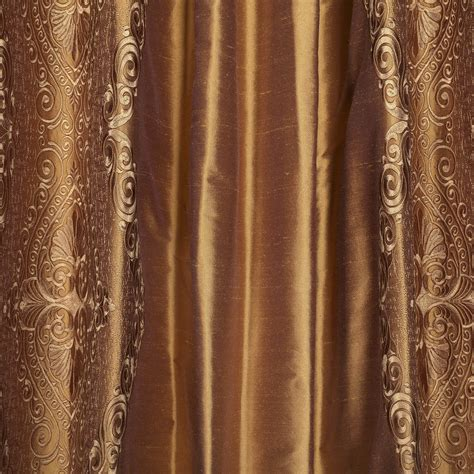 brown and gold curtains classic chai brown gold silk curtains drapes