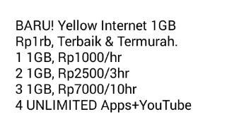 cara beli paket yellow indosat 1gb cuma 1rb raponsel cara daftar paket internet murah indosat rp 1000 1 gb inwepo