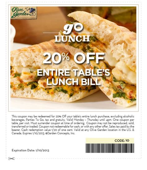 printable olive garden lunch coupons applebees coupons printable 2013 march rachael edwards