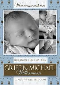 Free Birth Announcement Template by Free Photoshop Template Boy Birth Announcement