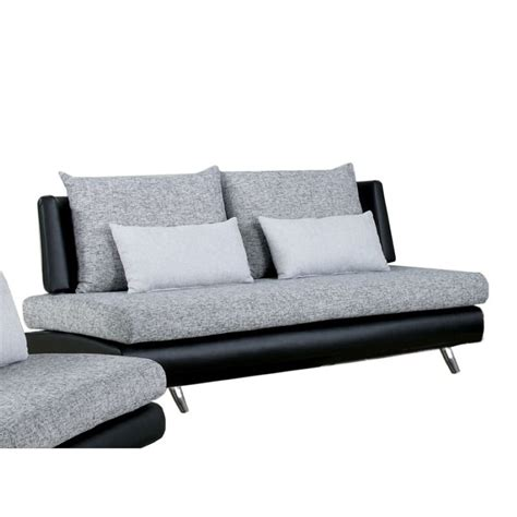furniture of america justin fabric and leather sofa in