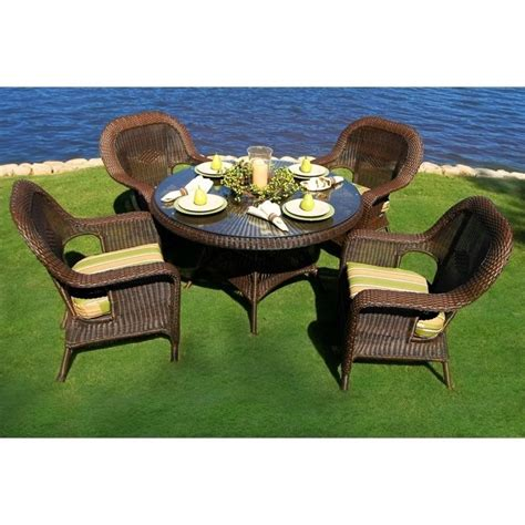tortuga lexington 5 piece patio dining set lex 5dsx xxxx
