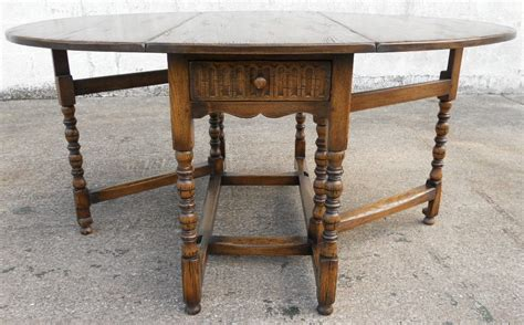 Antique Gateleg Dining Table Sold Antique Jacobean Style Large Oak Gateleg Dining Table To Seat Six