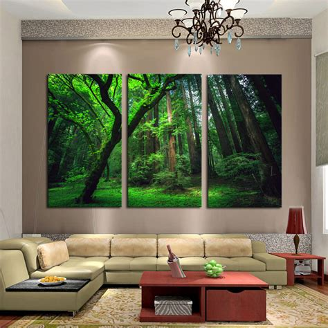 painting canvas wall art pictures frame home decor for framed home decor canvas art painting forst nature