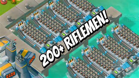 boom beach boat boom beach 200 max level 21 riflemen level 21 landing