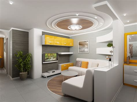 Modern Ceiling Design For Living Room Modern Ceiling Interior Designs For Living Rooms With Yellow