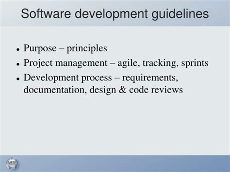 application design standards ppt recommendations for best software engineering