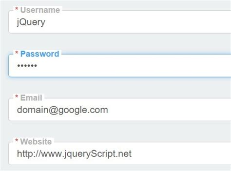 html input pattern float jquery plugin to create floating labels for inputs