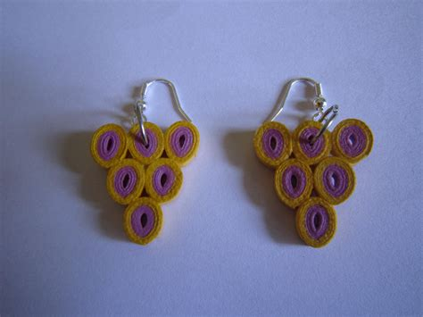 Handmade Paper Quilling Earrings - handmade jewelry paper quilled earrings triangle