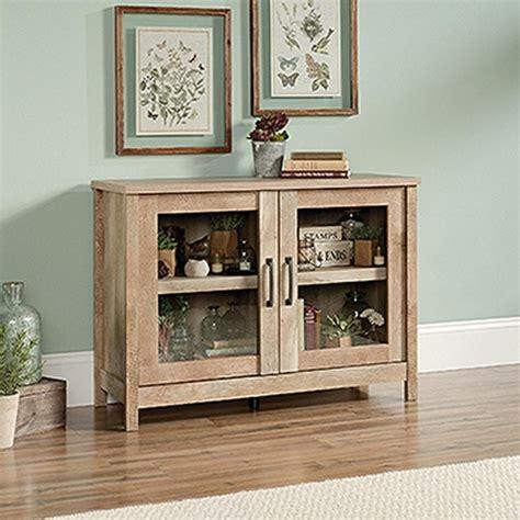 sauder oak storage cabinet sauder cannery bridge lintel oak storage cabinet 420334
