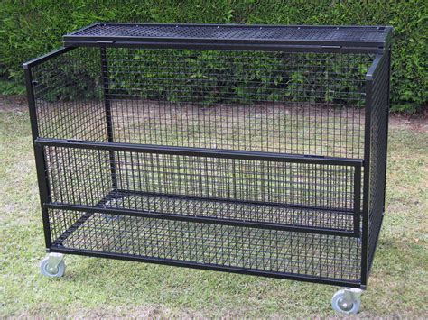 Lockable Mesh Storage Trolley   Security Cages Direct