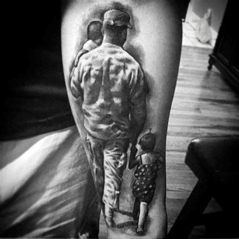 daughter tattoos for men 3d and family on forearms