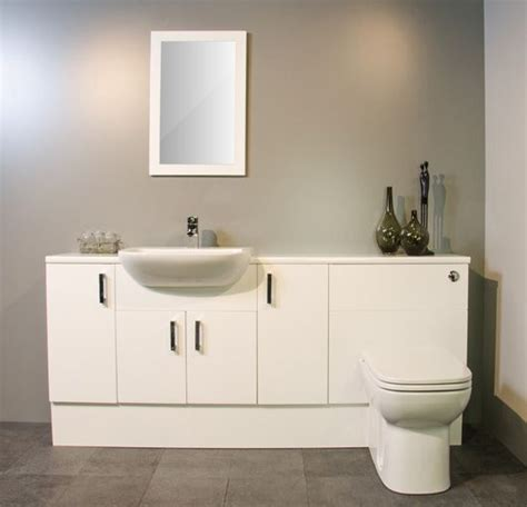 Fitted Bathroom Furniture White Gloss by White Gloss Fitted Bathroom Furniture 1800mm Bathroom