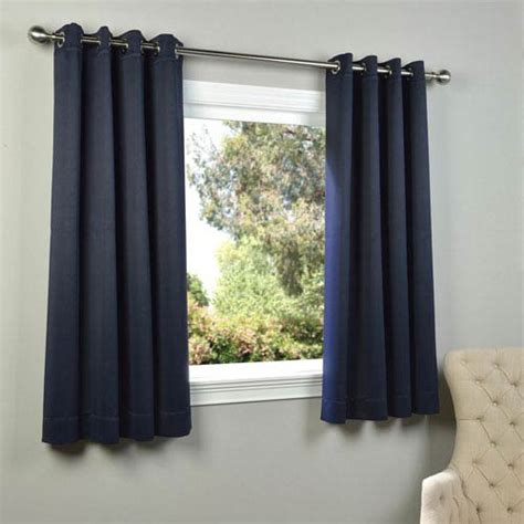 63 inch curtain navy blue 63 x 50 inch grommet blackout curtain panel pair