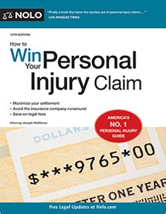 win personal injury claim legal book nolo