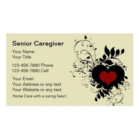 Caregiver Business Cards Templates by 1000 Images About Caregiver Business Cards On