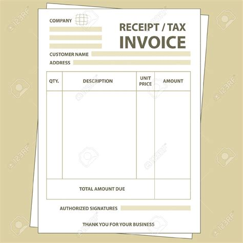 paper receipt template tax invoice receipt template invoice template ideas