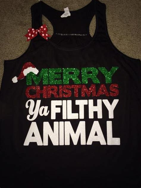 merry christmas ya filthy animal christmas shirt christmas cloth ruffles  love