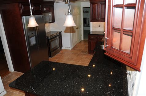 Galaxy Countertops by Black Galaxy Granite Installed Design Photos And Reviews
