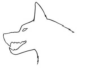 Simple Wolf Outline by Wolf Outline By Coolwolfx On Deviantart