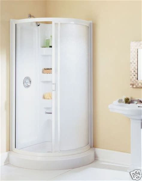 Corner Shower Stalls For Small Bathrooms Corner Shower Stall Small Spaces Bath Pinterest