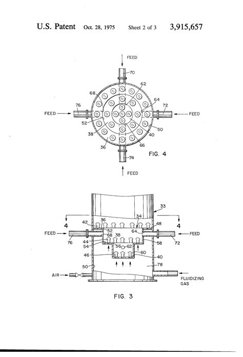 fluidized bed reactor patent us3915657 stepped distributor plate fluidized bed