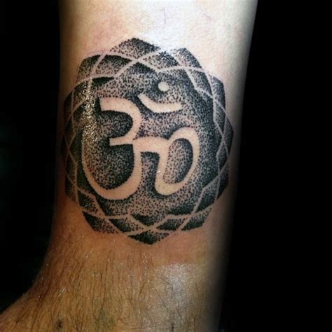 medium sized tattoos medium size black ink leg of hinduism symbol