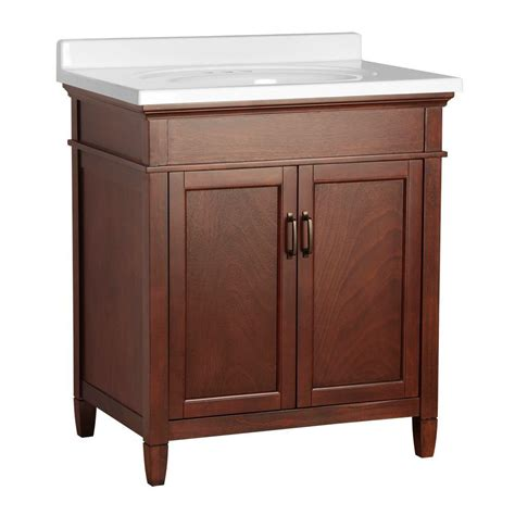 Country Bathroom Vanities Home Depot Foremost Cottage 31 In W X 22 In D Vanity In Antique